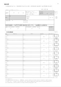 北海道伊達市レンタル釣り船、ヒラメ・カレイ・シャケ釣りの黄金マリン、事前準備物、乗船名簿(表)