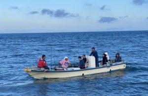 海上で釣り中の黄金マリンレンタル和船