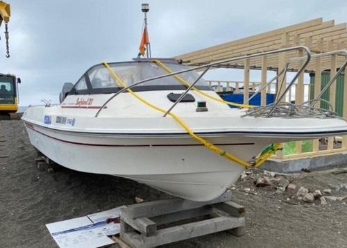 北海道伊達市レンタル釣り船、ヒラメ・カレイ・シャケ釣りの黄金マリン、レンタルプレジャーボート速馬(はやうま)画像